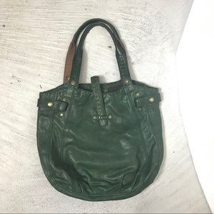 Lucky brand bucket bag genuine leather